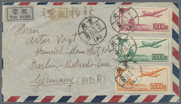 Beleg 1951, 1000,3000 U.5000 $ Flugpost Auf LP-Brief Von Peking Nach Berlin (Michel: 95-97) - Stamps