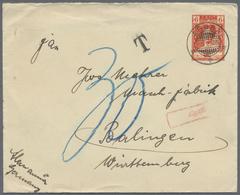 Beleg 1935, 6 C. Koenigin Wilhelmine Pra.-GA-Umschlag Unterfrankiert Mit Tax-Vermerk Von Aruba Nach Deutschland - Stamps
