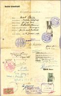 Beleg 1928, 10 F. A. 5 F.Eisenbahnbruecke Als Gebuehrenmarke Auf Kinderausweis Verwendet (Michel: 136) - Stamps