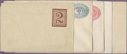 Beleg 1890-95, 6 Verschiedene Ungebrauchte Ganzsachen, Dabei 3 C. Antwortkarte - Stamps