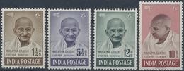 * 1948, 1 1/2 A.- 10 R. Mahatma Gandhi Ungebr. Gummi Etwas Verlaufen (Michel: 187-90) - Stamps