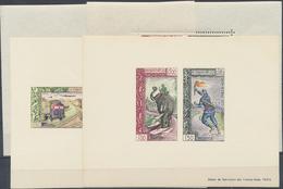** 1962, Phila-Ausstellung Vientiane, 4 Verschied. Postfrische Blocks, Mi. Ca. 400.- (Michel: Bl.29-30 A,B) - Stamps