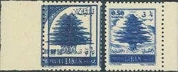** 2 Postfrische Randstuecke Mit Doppeldruck Des Markenbildes (Michel: 536 DD, 549 DD) - Stamps