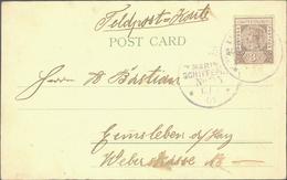 """Beleg 1901, Fotokarte """"Chinese Temple Singapore"""" Mit 3 D Victoria Frankiert Und Dt.Marine-Schiffspost-Stempel Nr.35(SMS  - Stamps"""