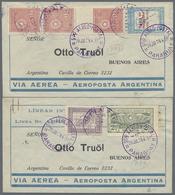 Beleg 1929, 4 Verschiedene LP-Briefe Nach Argentinien Gelaufen (Michel: 311 U.a.) - Stamps