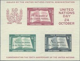 ** 1955, 10 Jahre UNO-Block Type I Postfrisch (Michel: Bl.1 I) - Stamps
