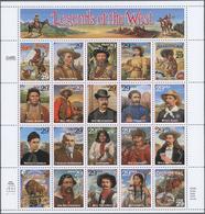 """** 1994, Persoenlichkeiten D. Westens Im Postfr. Zusammendruck-Bogen Mit Der Nicht Verausgabten Marke """"Ben Pickett"""" (Mic - Stamps"""