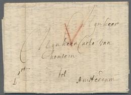 Beleg 1710, Antwerpen, Kaufmanns-Bf. Mit 5 Stuiver Roetel Taxe Nach Amsterdam - Stamps