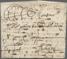 """Beleg 1715, De Bruges (hs.), Bruegge, Kaufmanns-Bf. Mit Hs. Taxe """"3"""" Nach Bruessel - Stamps"""