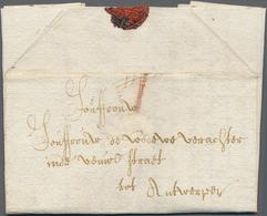 "Beleg 1728 ,Bruessel, Kab. Kaufmanns-Bf. M. ""I"" Stuiver Roeteltaxe Nach Antwerpen - Stamps"