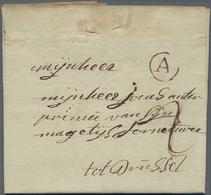 """Beleg 1771, """"A"""" Im Kreis, Roter Herkunftsstempel Auf Taxbrief Mit Hs. Taxe """"2"""" Aus Castel Antwerpen Nach Bruessel - Stamps"""