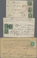 Beleg 1872-81, 6 Frankierte Briefe, Davon 5 Stueck Nach Frankreich (Michel: 27 (7), 29 (3)) - Stamps