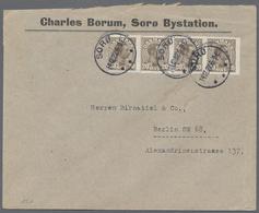 Beleg 1922 - 23, 10 Oe Ziffern In Waag. 4er-Str. Und 20 Oe Christian Im Waag. 4er-Str. (senkr. Zaehnung Nach Rechts Vers - Stamps