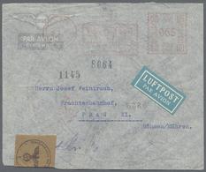Beleg 1941, 5.5., ODENSE, 65 Oere Firmenfreistpl. Auf OKW-Lp-Brief Nach Prag - Stamps