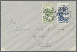 Beleg 1935, 10 U. 30  Oere Auf Brief Von Thule Nach Gyderny (Michel: 1,4) - Stamps