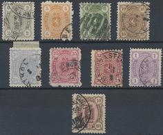 Gest. 1872/82, 2 P. - 2M. U. 10 M., 9 Werte In Unterschiedl. Erhaltung Mit Pra.stuecken, Mi. 700.- (Michel: 12-19,34 A) - Stamps