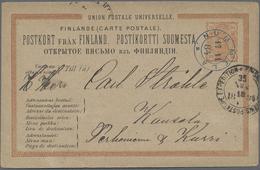 Beleg 1884, 17.11., NUMMELA (kleiner K2 Mit Zierstueck), Seltene Farb. Entwertung! A. GSK 10 P Braungelb A. Saemisch N.  - Stamps