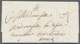 """Beleg 1701, 23. 9. Lille, Kab. Transit Kaufmanns-Bf. Ueber Die Franz. Staatspost Und Die Taxis Niederl. Posten Mit """"d 8"""" - Stamps"""