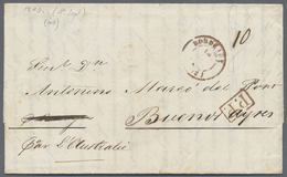 "Beleg 1849, 4. 9., Paris, Kpl. Schiffsbrief Mit Rotem K2 BORDEAUX, Hs. Leitvermerk ""Par Australie"" Nach Buenos Ayres, Vs - Stamps"