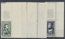 ** 1951, Persoenlichkeiten Kompl. Postfrisch Vom Re. Ob. Eckrand, Bis Auf 1 Wert Alle Mit Leerfeld (Michel: 909-14) - Stamps