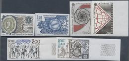 ** 1981-83, 3 Verschiedene Ungezaehnte Postfrische CEPT-Ausgaben, Meist Randstuecke (Michel: 2259-60 U U.a.) - Stamps