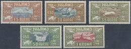 ** 1930, 1000 Jahrfeier Althing Kompl. Postfrisch,Mi. 450.- (Michel: 142-46) - Stamps
