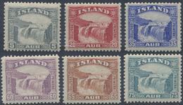 ** 1931, Freimarken Gullfoss-Wasserfall Kompl. Postfrisch,Mi. 400.- (Michel: 150-55) - Stamps