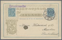 """Beleg 1919, 5 A Blau Ganzsachenkarte Als Durchsache Mit Rs. Dek. Zudruck """"H. TH. THOMSEN, KAISERLICH DEUTSCHER KONSUL"""",  - Stamps"""