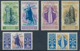 ** 1948, 3- 200 L. Katharina Von Siena Kompl.postfrisch, Mi. 170.- (Michel: 740-45) - Stamps