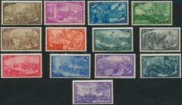 ** 1948, 3- 100 L. 100 Jahre Erhebung Kompl.postfrisch, Mi. 600.- (Michel: 748-60) - Stamps