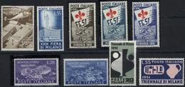 ** 1951, 4 Verschiedene Postfrische Ausgaben, Mi. 390.- (Michel: 830-31,834-40) - Stamps