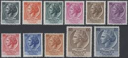 ** 1953, 5-200 L. Italia Kompl. Postfrisch, Mi. 345.- (Michel: 884-91,920-21) - Stamps