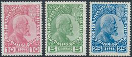 * 1912, 5-25 H. Fuerst Gestr. Papier, Ungebr. Mit Falzspur, Mi. 220.- (Michel: 1-3) - Stamps