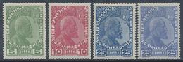 * 1915/16, 5-25 Heller Fuerst Gew. Papier , 25 H. In Beiden Farben, Kompl. Ungebr., Mi. 1290.- (Michel: 1-3 Y A,b) - Stamps