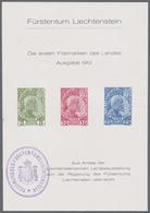 O. Gummi 1934, Blatt Mit 5-25 F. Fuerst Zur Landesausstellung 1934 Mit Dienststempel Und Rs. Nr. 022, Mi. 170.- (Michel: - Stamps