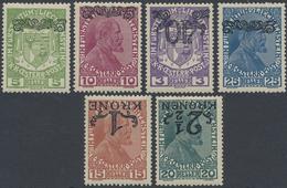 * 1920, 3-25 H. Mit Kopfstehendem Aufdruck Oben, Lt. FB Marxer Echt Mit Originalgummi Und Falzspuren, Mi. 550.- (Michel: - Stamps