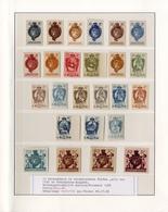 **/*/o. Gummi 1920,5 H. - 10 K. Freimarken, Lot Mit 47 Farbprobedrucken Und 2 Total Verzaehnten Marken, Meist Ungebr. Oh - Stamps
