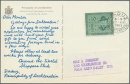 Beleg 1953/58, 3 Verschiedene Werte Auf 2 Shoppers-Club- Und 1 Abott-Fotokarten Mit 3 Verschiedenen Seltenen Maschinenst - Stamps