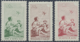 **/* 1912, Pro Juventute Vorlaeufer Kompl., 10 Rp. U. 10 Cts. Postfrisch, 10 Cmi. Ungebraucht, Mi. 553.- (Michel: I-III) - Stamps