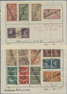 Gest. 1918, Serbische Post In Korfu, 14 Verschiedenen Gest.Marken Von Frankreich (Saeerin/Allegorie), Teils In Paaren Mi - Unclassified