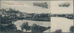 """Beleg 1909/12, 2 Verschiedene Ansichstkarten Von Ploen """"Zeppelin Ueber Der Holstein. Schweiz"""", Beide Als Feldpostkarten  - Unclassified"""