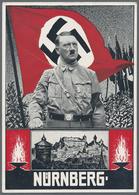 Beleg 1934, Reichsparteitag Der NSDAP Nuernberg, Farbige Karte Mit Entspr.SST - Stamps