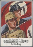 Beleg 1934, Reichsparteitag Der NSDAP Nuernberg, Farbige Karte Mit Entspr.Maschinenst. - Stamps