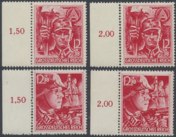 ** 1945, SA/SS, 2 Postfrische Randsaetze, Mi. 160.- (Michel: 909-10(2)) - Unclassified