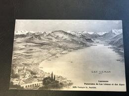 1029 - LAUSANNE Panorama Du Lac Leman Et Des Alpes - VD Waadt