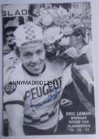 PHOTO -  CYCLISME- CICLISMO-TOUR DE FRANCE - ERIC LEMAN (Signé) - Cycling