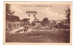 27 St Saint Martin Du Parc Le Moulin Fleuri + Timbre Paire Attachée N° 235 - France