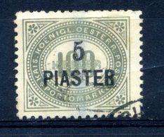 1902 LEVATE TASSE N.5 USATO - Oriente Austriaco