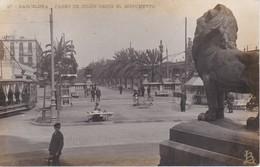 27 POSTAL DE BARCELONA DEL PASEO DE COLON DESDE EL MONUMENTO - Barcelona