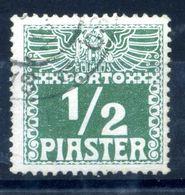 1908 LEVATE TASSE N.7 USATO - Oriente Austriaco